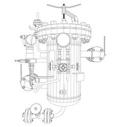 Scetch heat exchanger vector