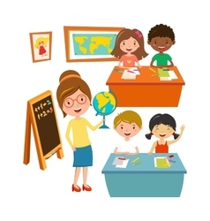 School kids education elementary school learning vector