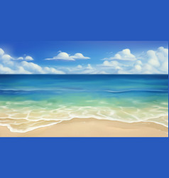 Sea beach sand and wave realistic background vector