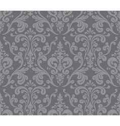 Seamless elegant damask pattern Grey vector