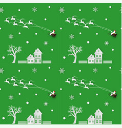 seamless pattern of winter seasonchristmas design vector image