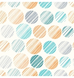 Seamless pattern with hand drawn polka dot vector
