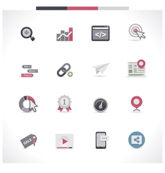 SEO icon set Part 1 vector