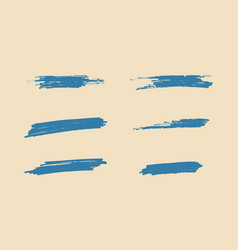 set of grunge artistic brush strokes vector image