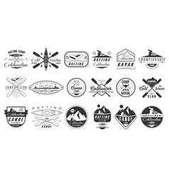 Set of monochrome logos for coldwater club vector