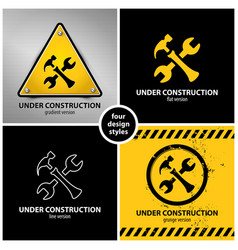 set under construction symbols vector image