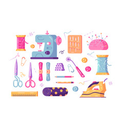 Sewing supplies set vector