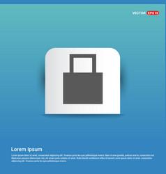 shopping bag icon - blue sticker button vector image