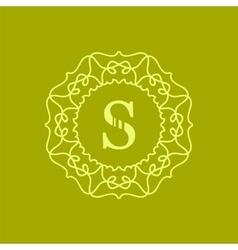Simple Monogram S vector image