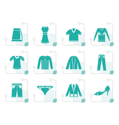 stylized clothing icons vector image