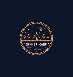 Summer camp logo vector