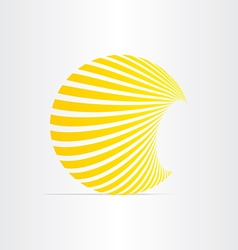 sun energy solar icon vector image