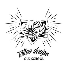 tattoo studio design in black and white vector image