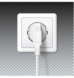 the plug is plugged into the power lines white vector image
