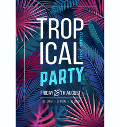 tropical party banner vector image