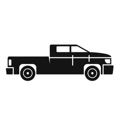 Truck pickup icon simple style vector