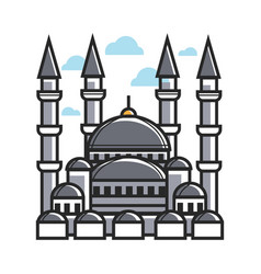 Turkey symbol mosque for culture famous travel or vector