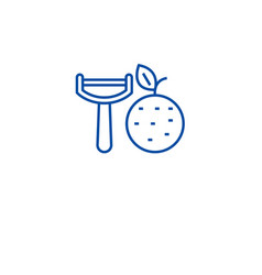 Vegetable peeler line icon concept vegetable vector