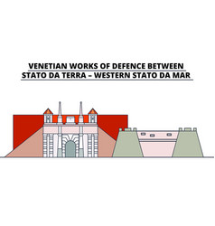 Venetian works of defence between - stato da terra vector