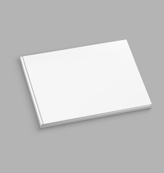 white hardcover album mock up on grey table vector image