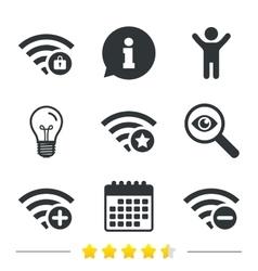 Wifi Wireless Network icons Wi-fi add remove vector