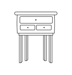 Wooden table furniture cabinet image vector