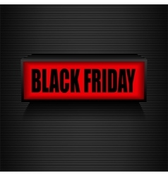 Black friday Warning message Sale and discount vector image