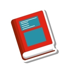 book school supply isolated icon vector image