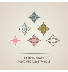 Geometric round Eastern star logo circular vector image