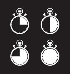 Stopwatch timer set vector