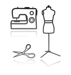tailors equipment vector image