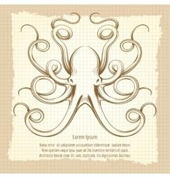 Vintage octopus vector image vector image