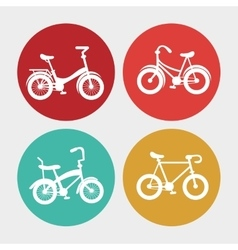 Bike and healthy lifestyle design vector