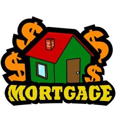 Mortgage icon vector image