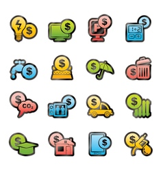 payment of bills icons vector image vector image