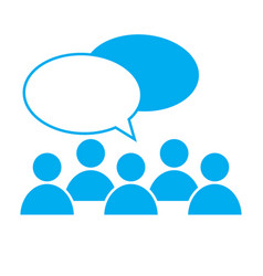 people talking icon on white background discuss vector image