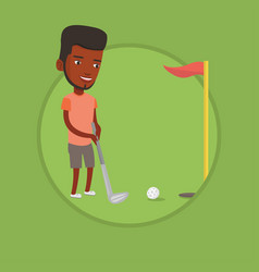 golfer hitting the ball vector image