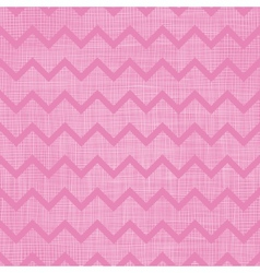 Pink fabric textured chevron stripes seamless vector image vector image