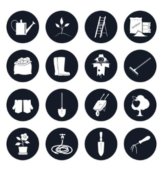 Round Icons Garden Tools and Equipment vector image vector image