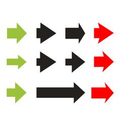set color arrows vector image vector image