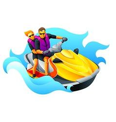 Ski jet ride vector image