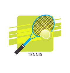 tennis ball and racket icon vector image