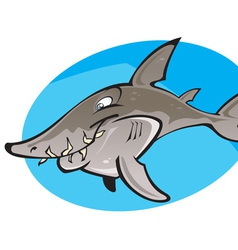 Cartoon Grey nurse shark vector image vector image