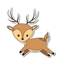 cute reindeer cartoon icon vector image vector image