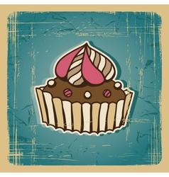 Retro Cake Background vector image vector image