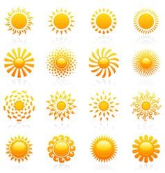Sun vector logo template set vector