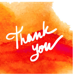 thank you writing vector image
