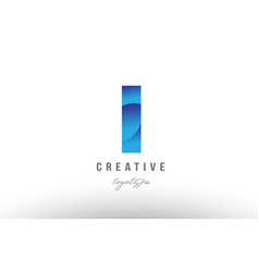 1 one blue gradient number numeral digit logo vector image