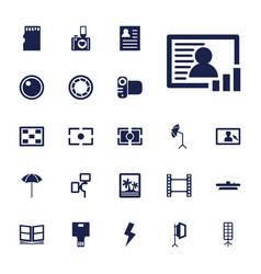 22 photo icons vector