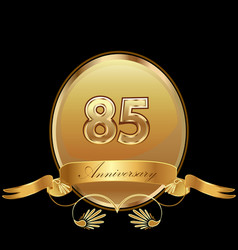 85th golden anniversary birthday seal icon vector image